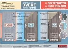 Vchodové protipožární dveře Boulit
